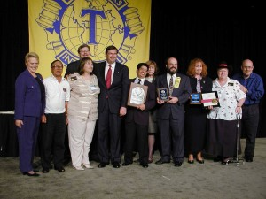 Enrico Pena, DTM Shown at Toastmasters International Convention receiving the Select Distinguished Award