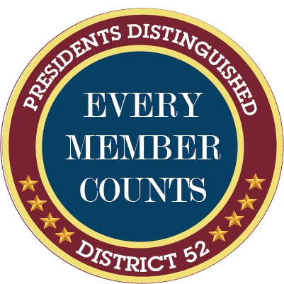 Presidents Distinguished logo every member counts