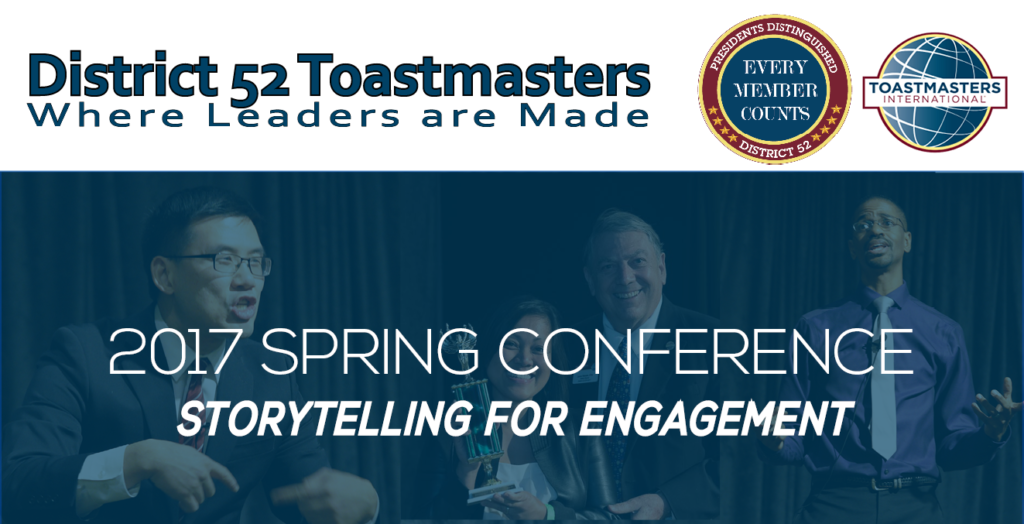 Spring Conference StoryTelling for Engagement Graphic