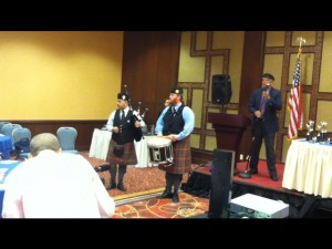 Men in Kilts at Spring Conference