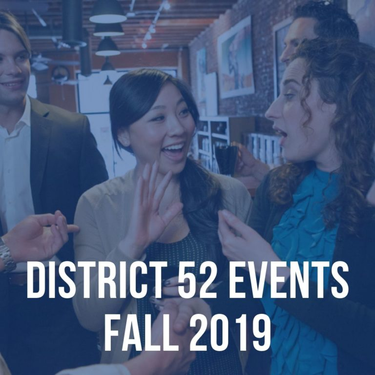 Toastmaster District 52 Events