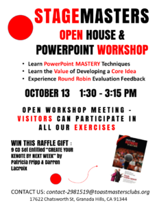 Stagemasters Open House Workshop